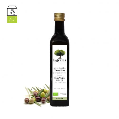 La Grama Selección 0,50 litros – Aceite de oliva de cosecha temprana