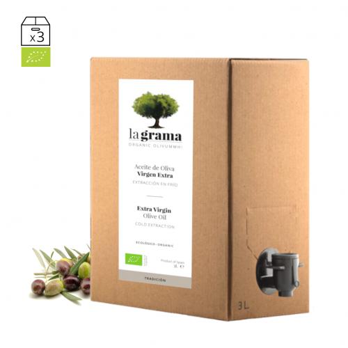 La Grama Tradición bag-in-box de 3 litros – Aceite de oliva Coupage Premium