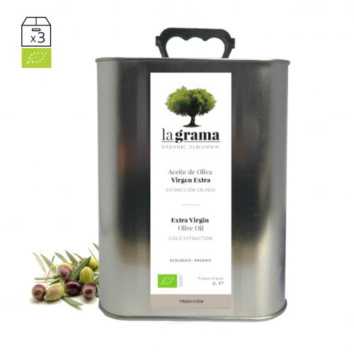 La Grama Tradición lata de 3 litros – Aceite de oliva Coupage Premium